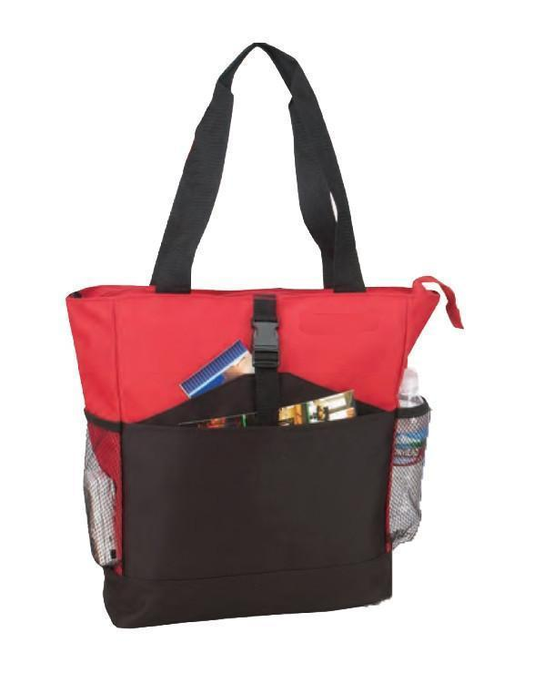 Cheap Non-Woven Tote Bag With Zipper Two-Tone - BAGANDCANVAS.COM