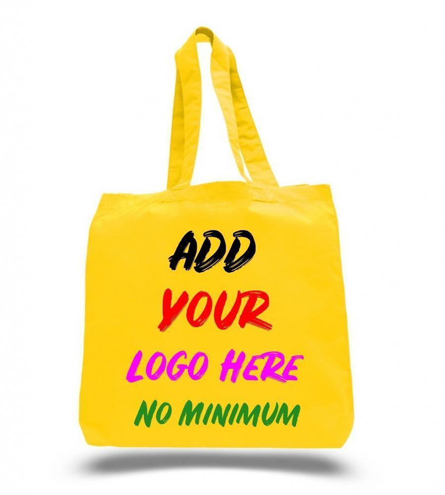 Custom Economical 100% Cotton Cheap Tote Bags W/Gusset - Customized - BAGANDCANVAS.COM