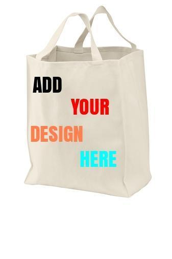 Custom Grocery Tote Bag Port Authority® - BAGANDCANVAS.COM