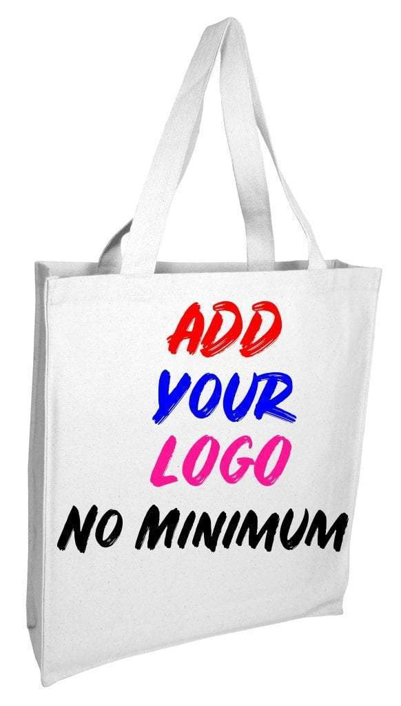 Custom Heavy Wholesale Canvas Tote Bags With Full Gusset - BAGANDCANVAS.COM