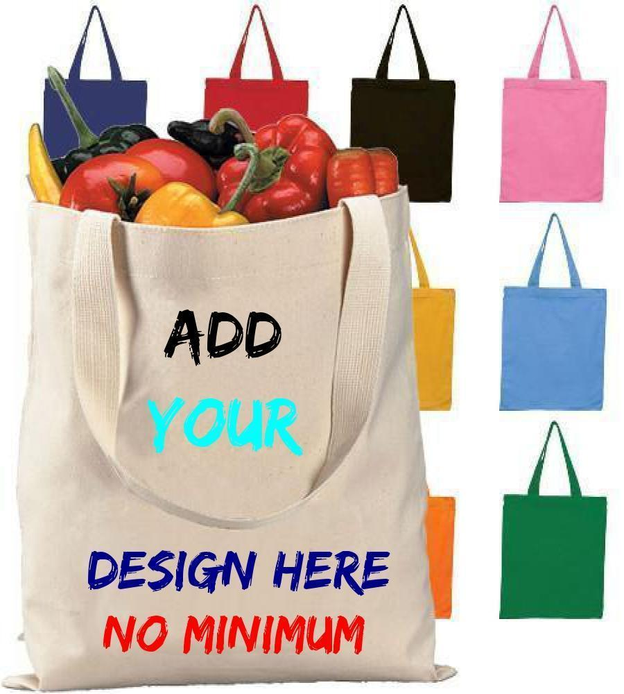Custom High Quality Promotional Canvas Tote Bags - Customized - BAGANDCANVAS.COM