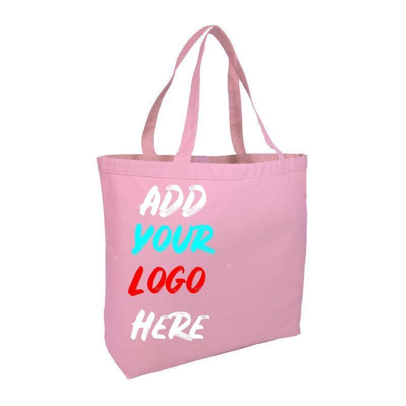 Custom Large Heavy Canvas Tote Bags With Hook And Loop Closure - BAGANDCANVAS.COM