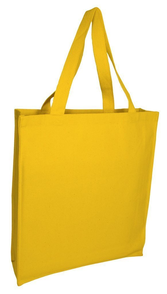 Heavy Canvas Shopper Tote Bags With Full Gusset Wholesale - BAGANDCANVAS.COM