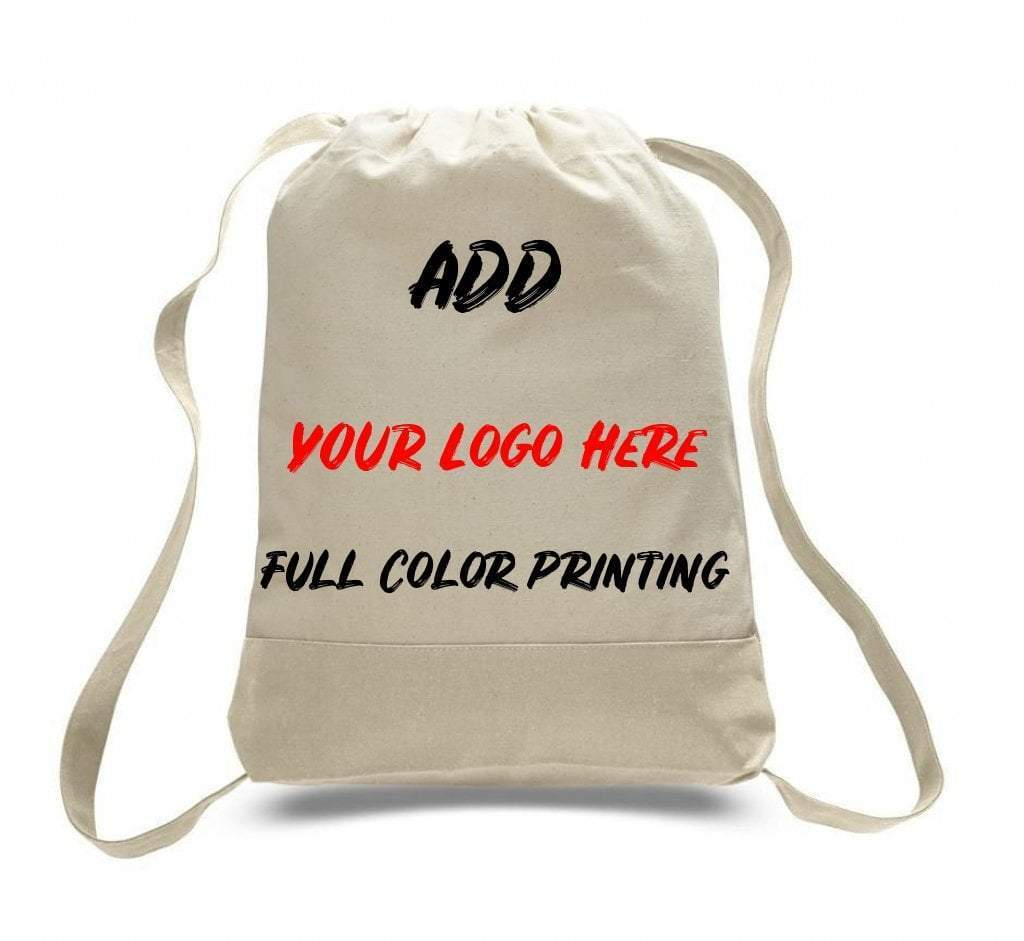 Print On Two Tone Canvas Sport Backpacks - BAGANDCANVAS.COM