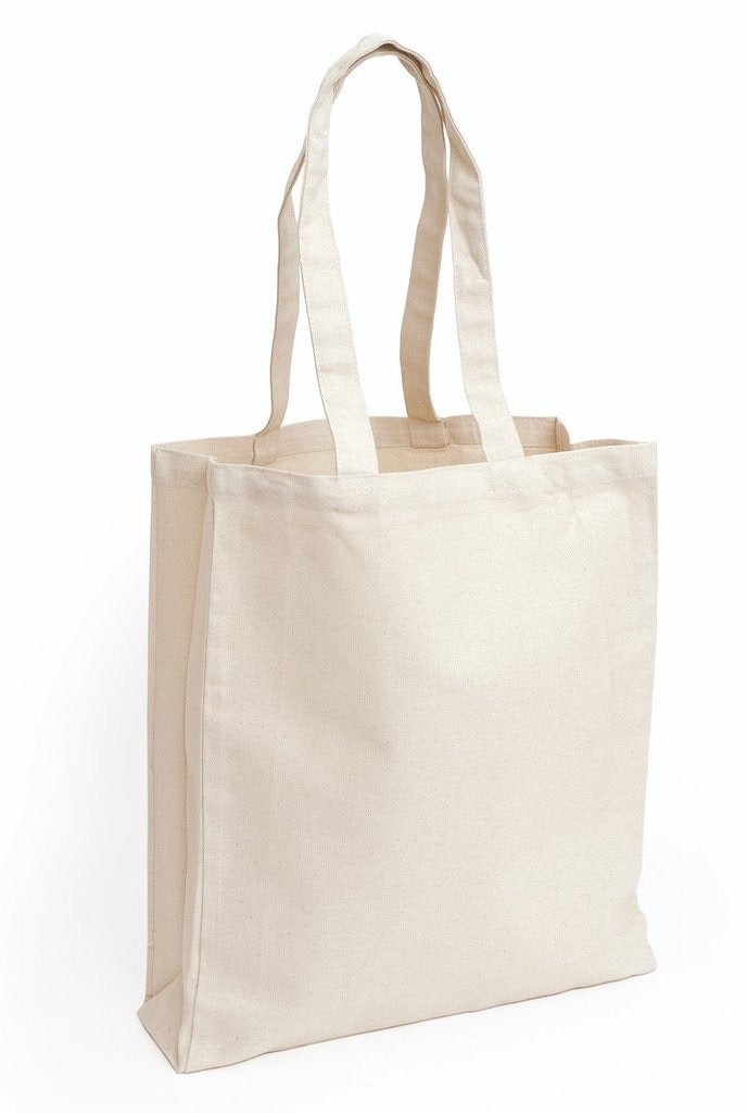 Custom Small Canvas Tote Bag / Book Bag With Gusset - BAGANDCANVAS.COM