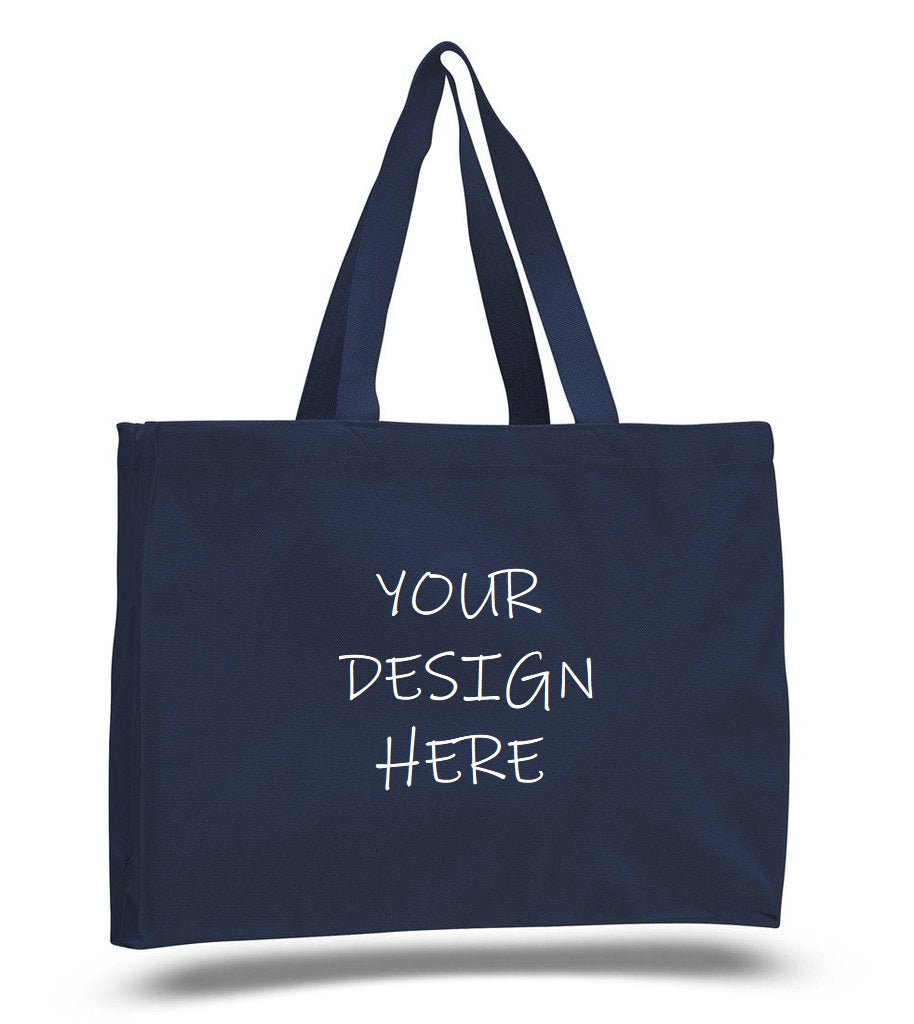 Custom Full Gusset Heavy Canvas Tote Bags - BAGANDCANVAS.COM