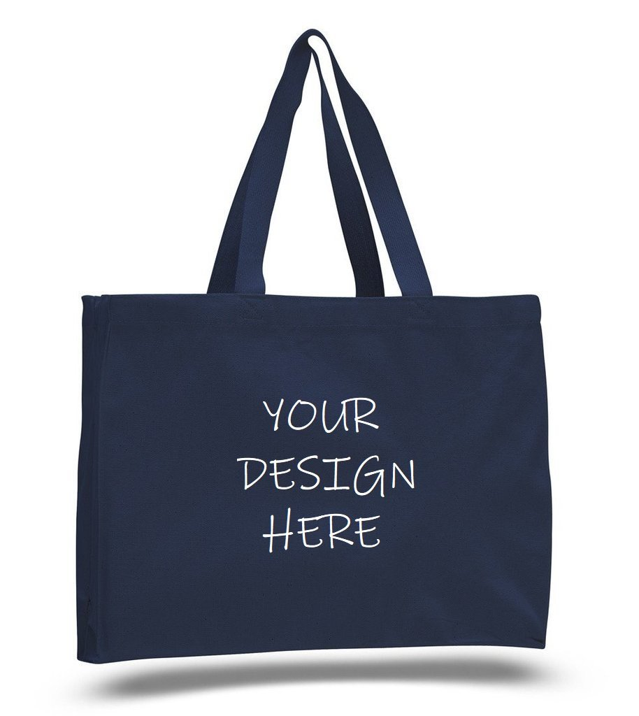 Custom Full Gusset Heavy Canvas Tote Bags - Customized - BAGANDCANVAS.COM