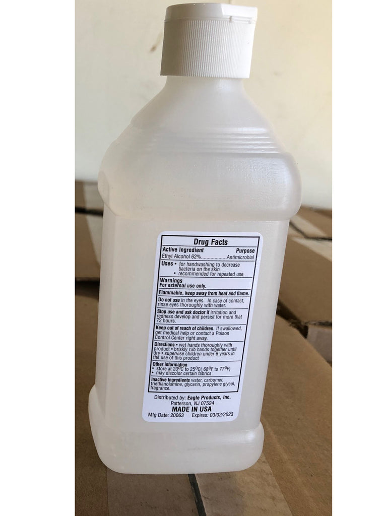 Made in USA - 62% Alcohol Gel Instant Hand Sanitizers 12fl oz / ( 354ml ) - BAGANDCANVAS.COM