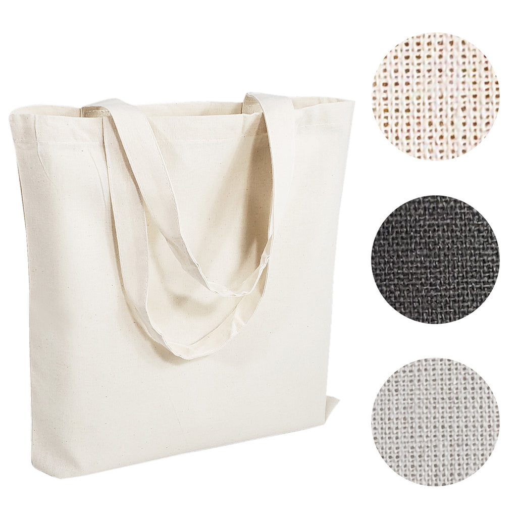 Economical 100% Cotton Reusable Wholesale Tote Bags - BAGANDCANVAS.COM