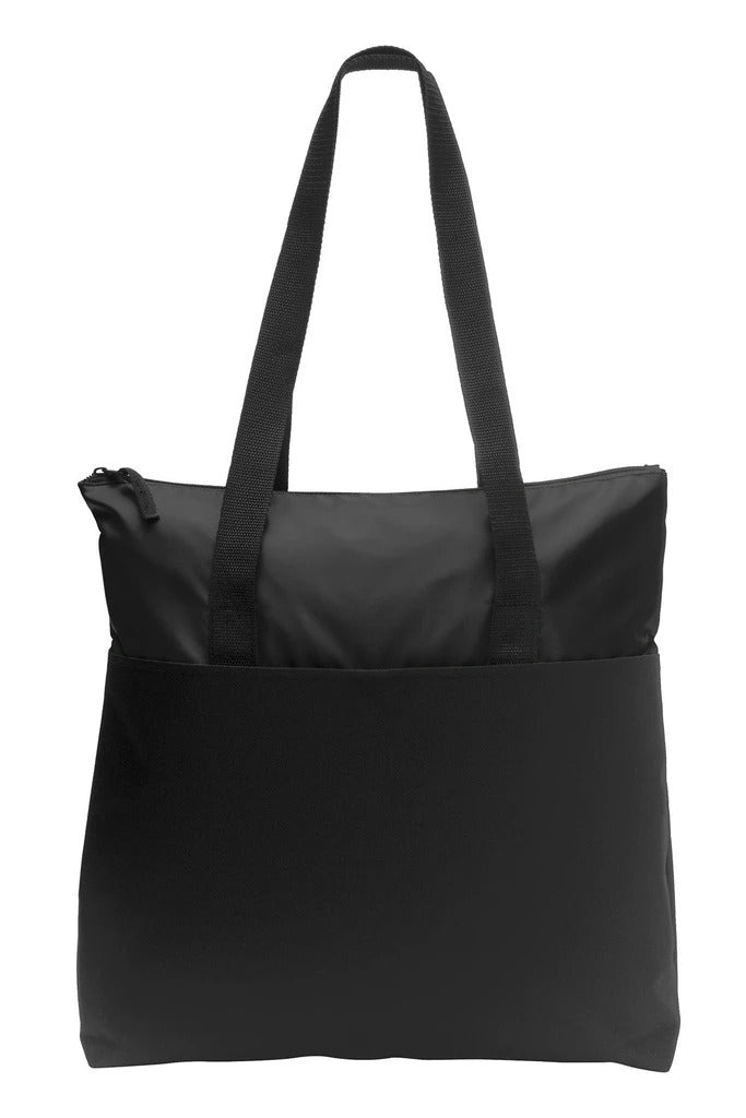 Zip-Top Convention Polyester Canvas Tote Bag - BAGANDCANVAS.COM