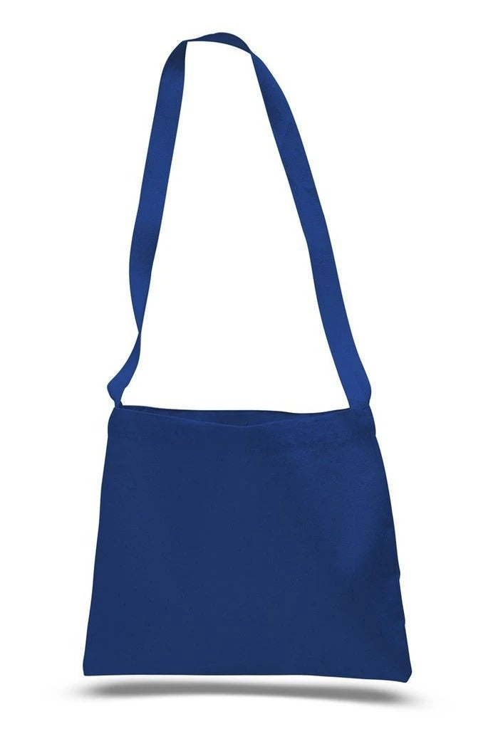 Small Messenger Canvas Tote Bag With Long Straps - BAGANDCANVAS.COM