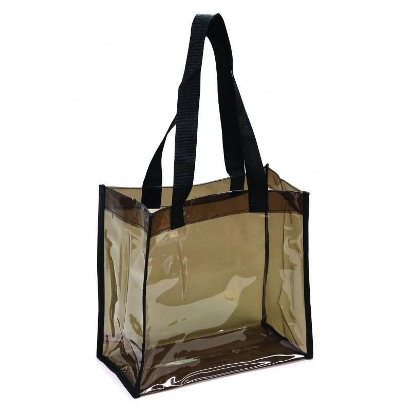 Transparent Black Tote Bag - BAGANDCANVAS.COM
