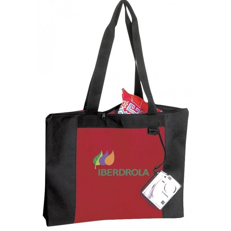Polyester Zippered Tote Bag - BAGANDCANVAS.COM