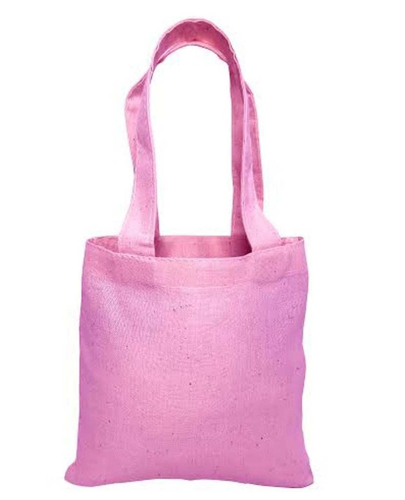 Mini Cotton Tote Bag With Fabric Handles - BAGANDCANVAS.COM