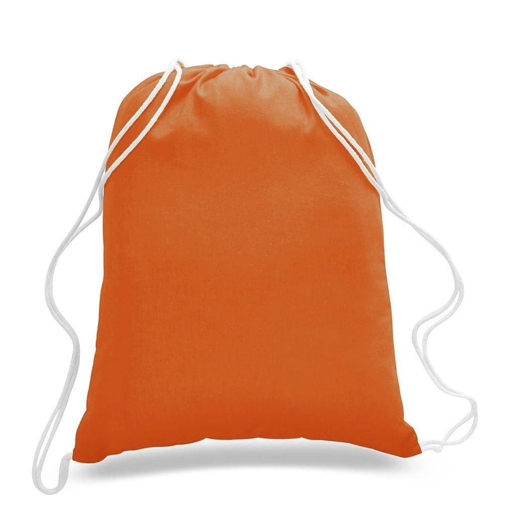 Economical Sport Cotton Drawstring Bag Cinch Packs - BAGANDCANVAS.COM