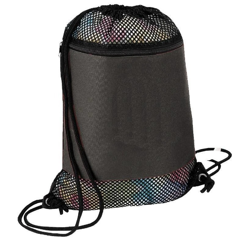 Large Nylon Mesh Drawstring Bag - BAGANDCANVAS.COM