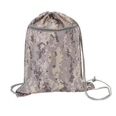 Digi Camo Drawstring Backpack - BAGANDCANVAS.COM