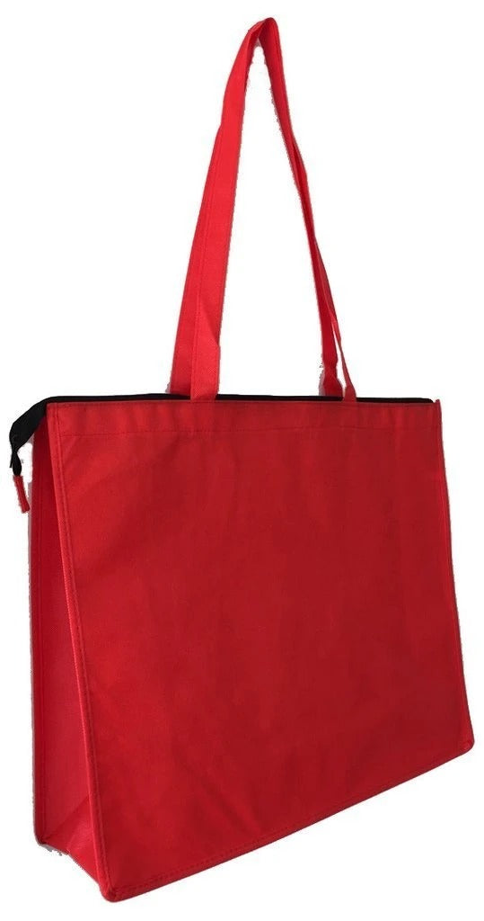 Zippered Large Tote Bags - Reusable Grocery Bags - BAGANDCANVAS.COM