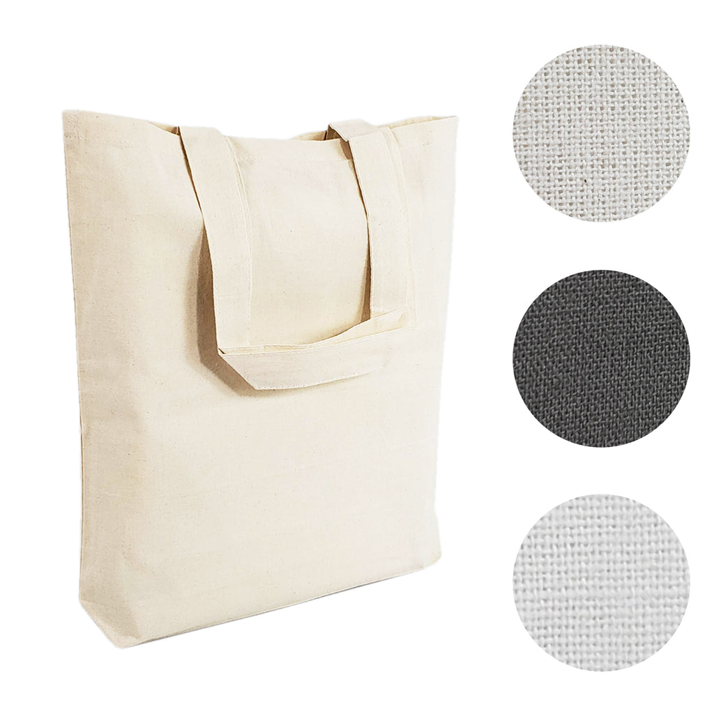 Budget 100% Cotton Canvas Tote Bags with Bottom Gusset - BAGANDCANVAS.COM