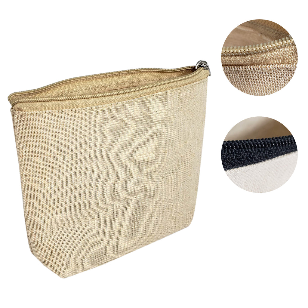 Zippered Canvas Makeup Bag / Cosmetic Bags - BAGANDCANVAS.COM