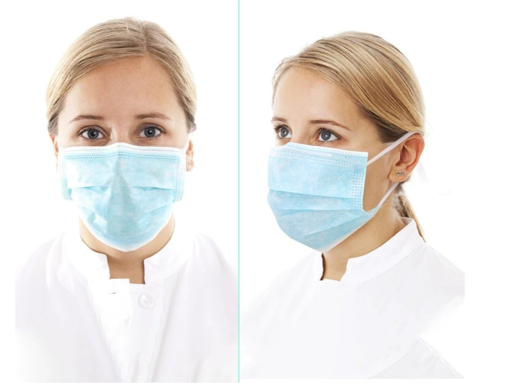 Premium 3 Layer Protection Disposable Face Masks - By Case - BAGANDCANVAS.COM