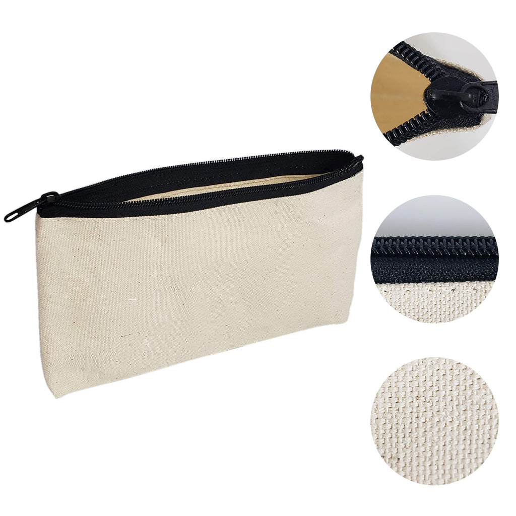 Rectangular Canvas Pouch Bag with Zipper Closure - BAGANDCANVAS.COM