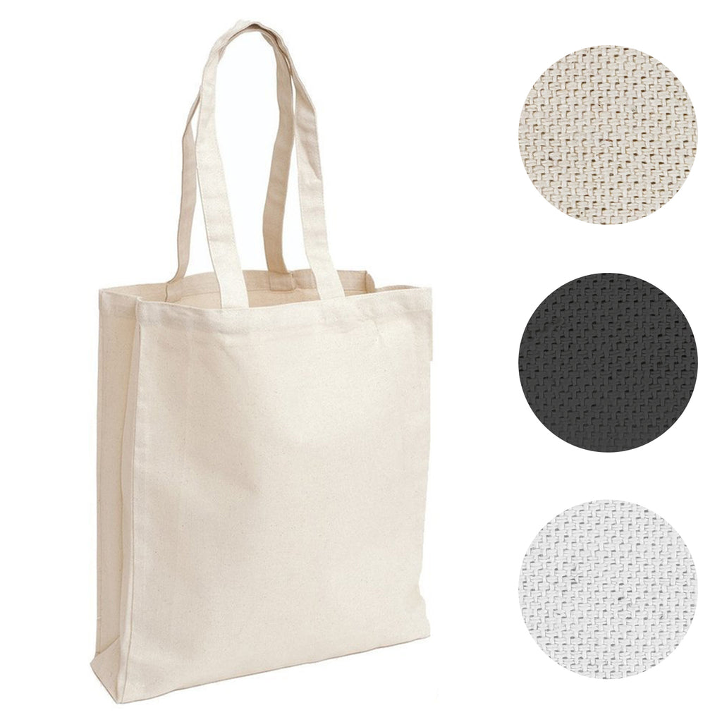 Small Canvas Tote Bag / Book Bag With Gusset - BAGANDCANVAS.COM