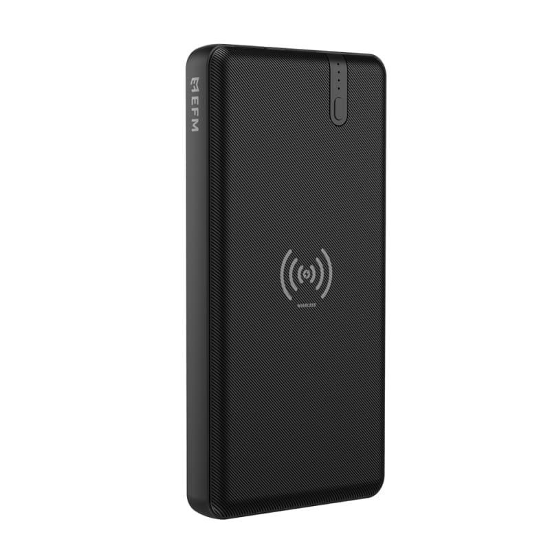 EFM 15W Wireless Portable 10000mAh Power Bank With 15W Ultra Fast Charge and Wireless Qi Charging