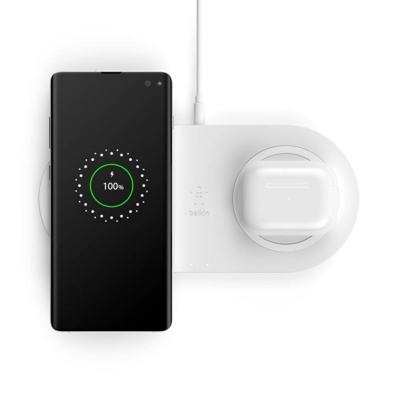 Belkin BoostCharge Dual Wireless Charging Pads 10W Universally compatible