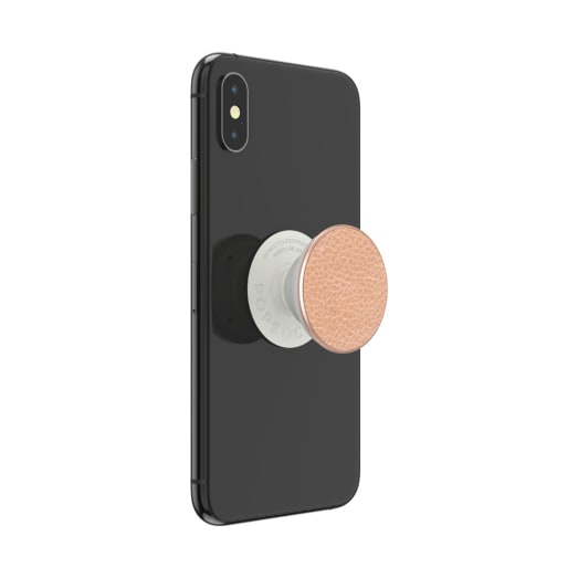 Popsockets PopGrip (Gen2) Pebbled Vegan Leather Rose Gold