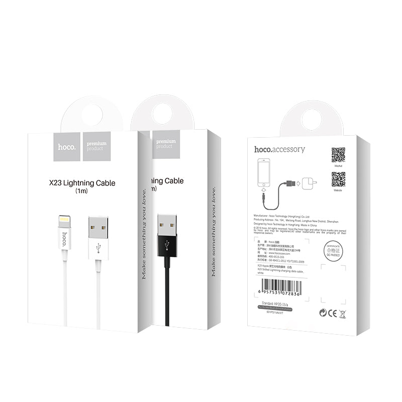 Hoco X23 Lightning Fast Charging Data Cable