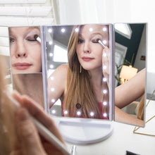 Load image into Gallery viewer, Trifold MakeUp Mirror (Fast Shipping) - After Glow Products