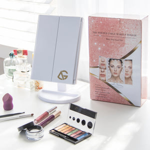Trifold MakeUp Mirror (Fast Shipping) - After Glow Products