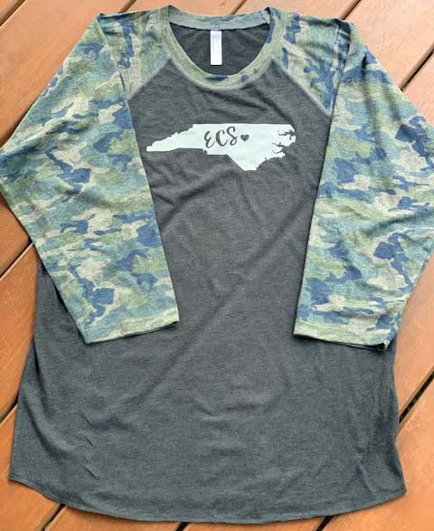 Endeavor Charter School 3/4 Sleeve Camo Shirt