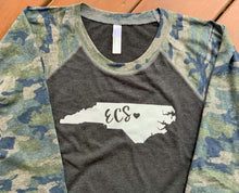 Load image into Gallery viewer, Endeavor Charter School 3/4 Sleeve Camo Shirt