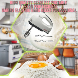 Hand Mixer 7 Speed Professional Baking