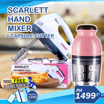 Scarlet Hand Mixer + Capsule Cutter w/ 3 Freebies