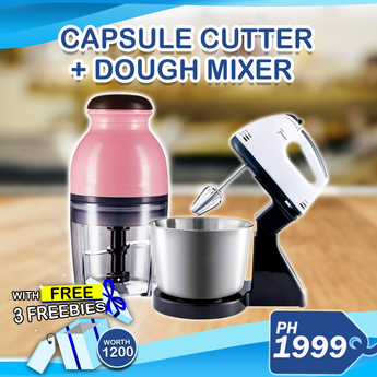 Dough mixer w/Bowl and Capsule Cutter + 3 Freebies