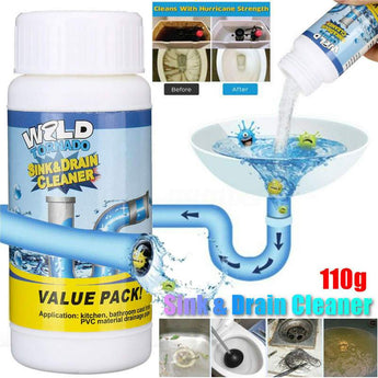 Wild Tornado Powerful Sink & Drain Cleaner High Efficiency Unclog drainage- Clog Remover/Cleaner