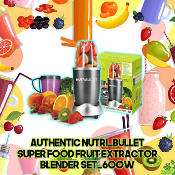 Authentic Nutri_Bullet Super food Fruit Extractor Blender Set_600w