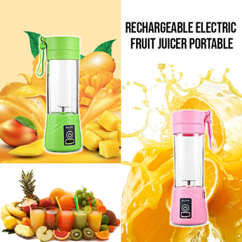 Latest Portable Size USB Electric Fruit Juicer Handheld Smoothie Maker Blender Rechargeable Mini Portable Juice Cup Water