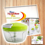 Easy to Use Speedy Chopper Nicer Dicer Multipurpose Food Chopper Vegetable Slicer Onion Cutter Garlic Mincer - High Quality