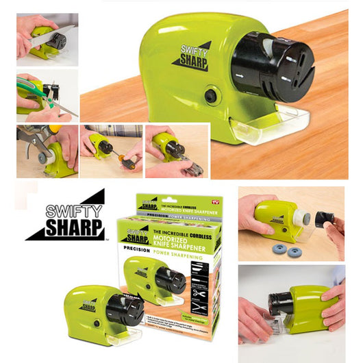 Professional Precision Electric and Motorized Knife Power Sharpener Swifty Sharp Sharpening Tool Household