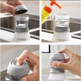 Kitchen Cleaning Pot Brush with Soap Dispenser Kitchen