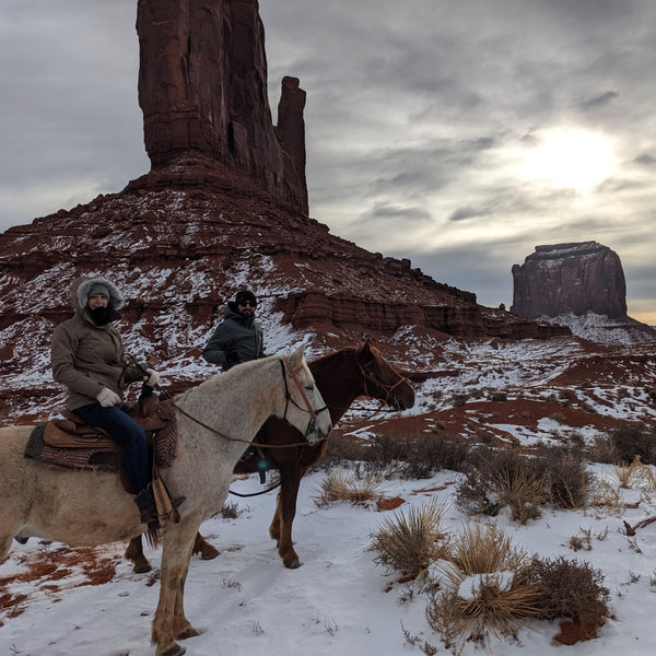 Horse Riding Winter Monument Valley