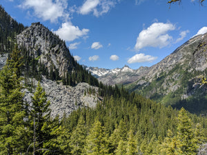 View from Colchuck Lake Trail in Washington