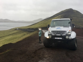 View on a jeep tour to Landmannalaugar on day 3 of this Iceland 2 week itinerary