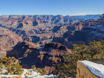 Road trip to Grand Canyon in winter