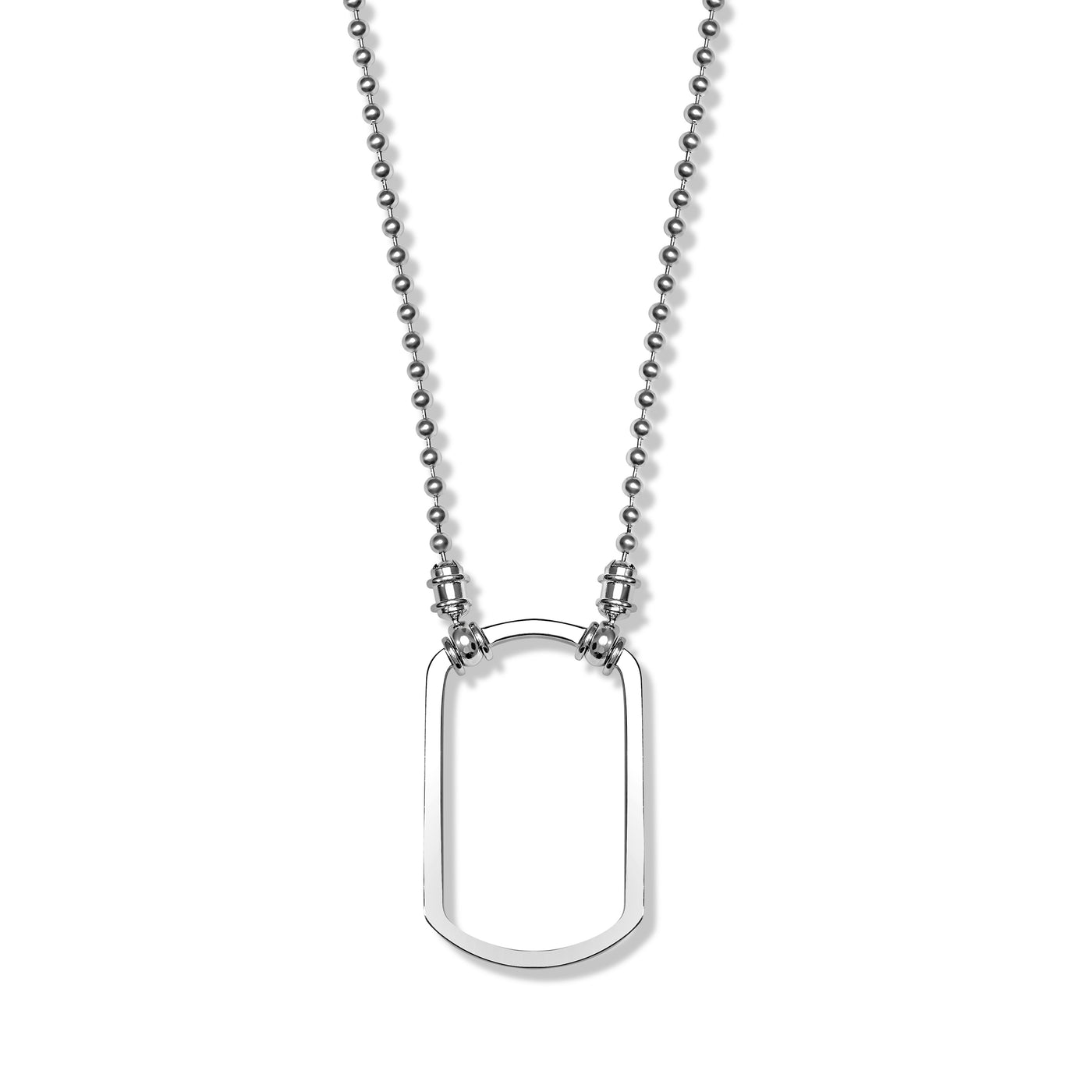 Sterling Ball Chain Dog Tag