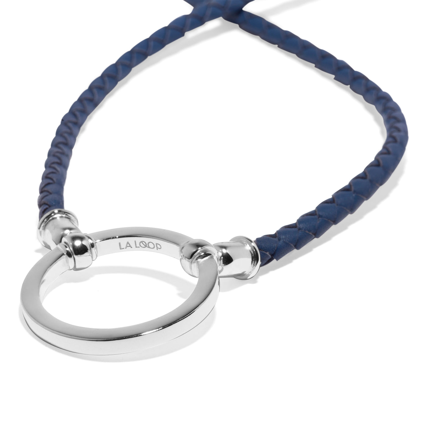 Denim Braided Clifton with Silver Plated Loop